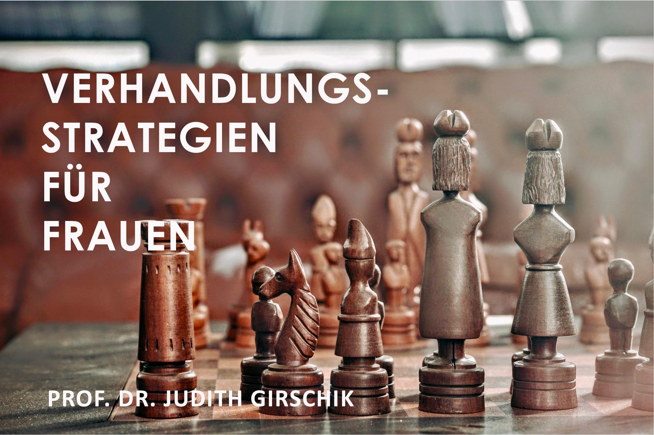Verhandlungstechnik für Frauen - Vortrag von Dr. Judith Girschik