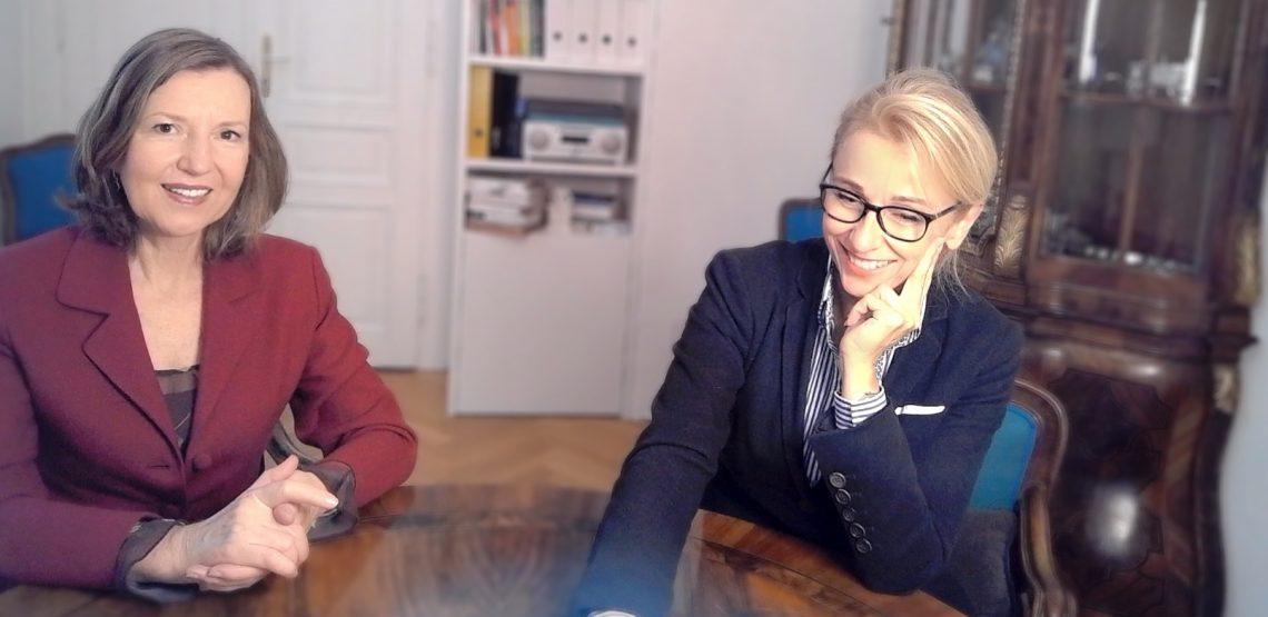 Finanzexpertin Eisenberger und Führungskräfte Coach Girschik